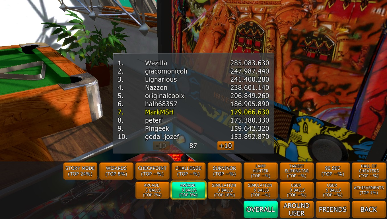 Mark: Zaccaria Pinball: Magic Castle 2017 [5 balls] (PC) 179,066,630 points on 2018-05-08 01:49:22