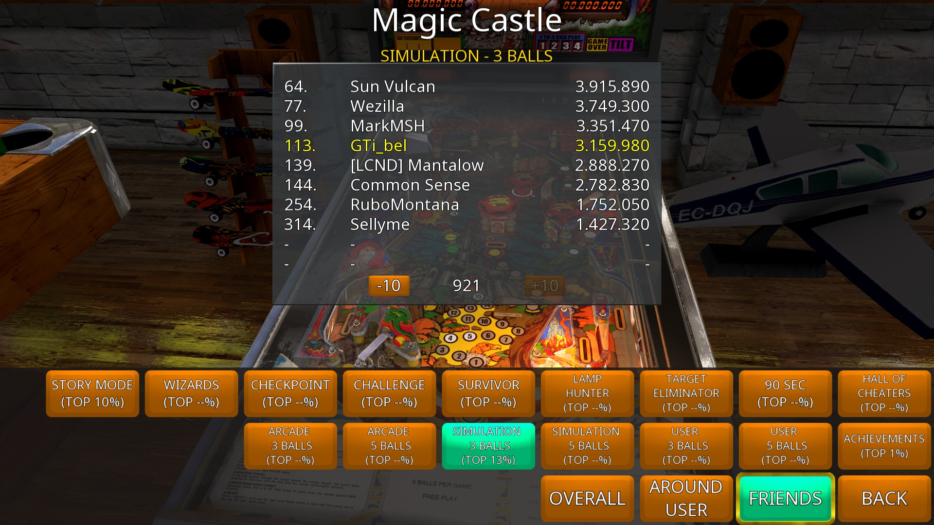 GTibel: Zaccaria Pinball: Magic Castle [3 balls] (PC) 3,159,980 points on 2018-09-02 08:59:30