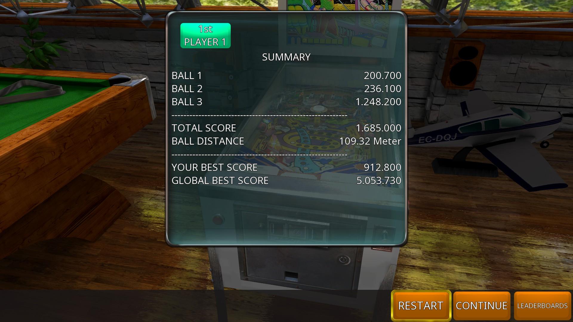 GTibel: Zaccaria Pinball: Moon Flight [3 balls] (PC) 1,685,000 points on 2018-09-02 09:24:03
