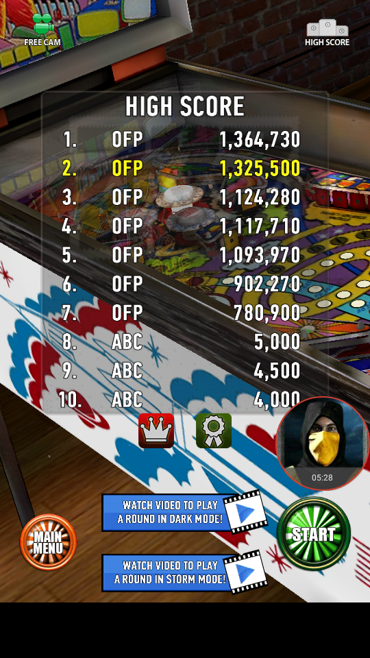 omargeddon: Zaccaria Pinball: Moon Flight (Android) 1,325,500 points on 2018-04-03 00:15:10