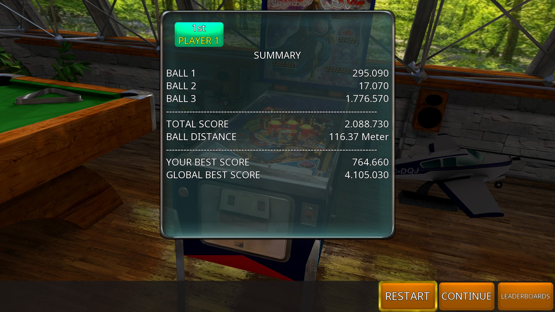 GTibel: Zaccaria Pinball: Mystic Star [3 balls] (PC) 2,088,730 points on 2018-11-03 04:30:21