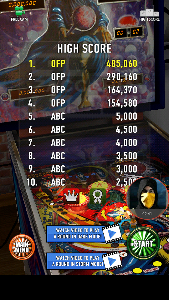 omargeddon: Zaccaria Pinball: Mystic Star (Android) 485,060 points on 2018-04-07 21:46:15