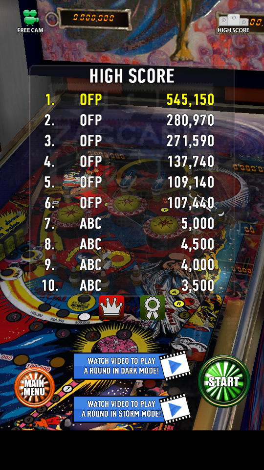 omargeddon: Zaccaria Pinball: Mystic Star (Android) 545,150 points on 2018-06-06 21:04:16