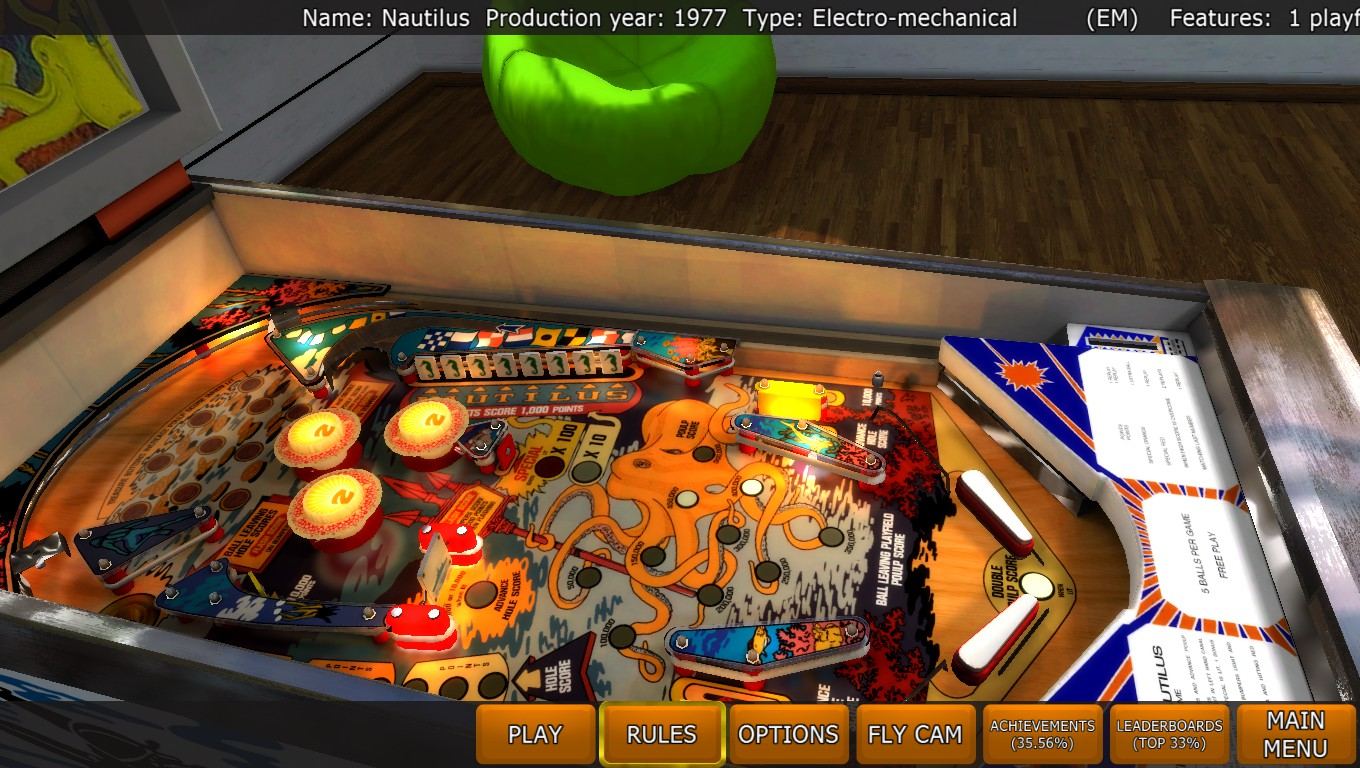 Mark: Zaccaria Pinball: Nautilus [3 balls] (PC) 14,606,700 points on 2018-04-24 01:24:36