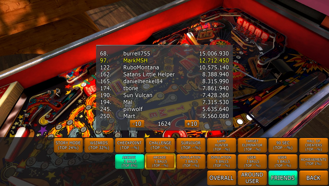 Mark: Zaccaria Pinball: Pinball Champ [3 balls] (PC) 12,712,450 points on 2018-04-20 19:04:28