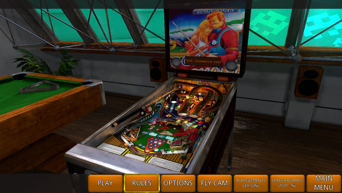 Mark: Zaccaria Pinball: Pool Champion 2018 [5 Balls] (PC) 191,992,570 points on 2018-12-24 00:47:36