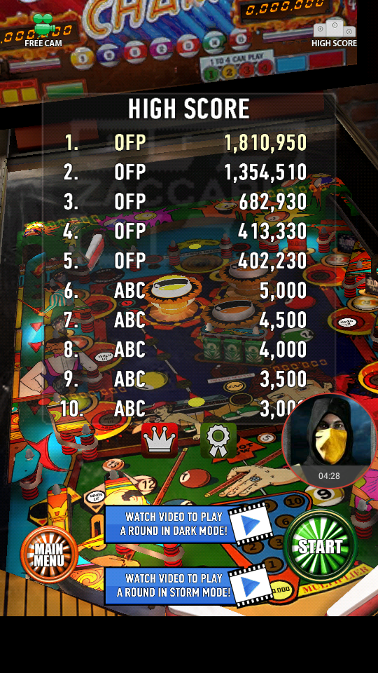 omargeddon: Zaccaria Pinball: Pool Champion (Android) 1,810,950 points on 2018-04-07 03:06:43
