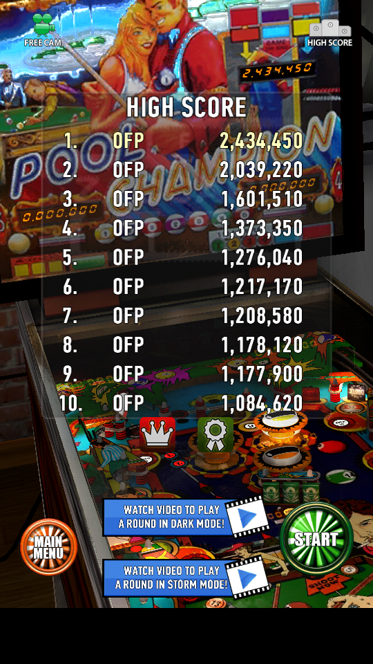 omargeddon: Zaccaria Pinball: Pool Champion (Android) 2,434,450 points on 2018-06-25 22:42:29