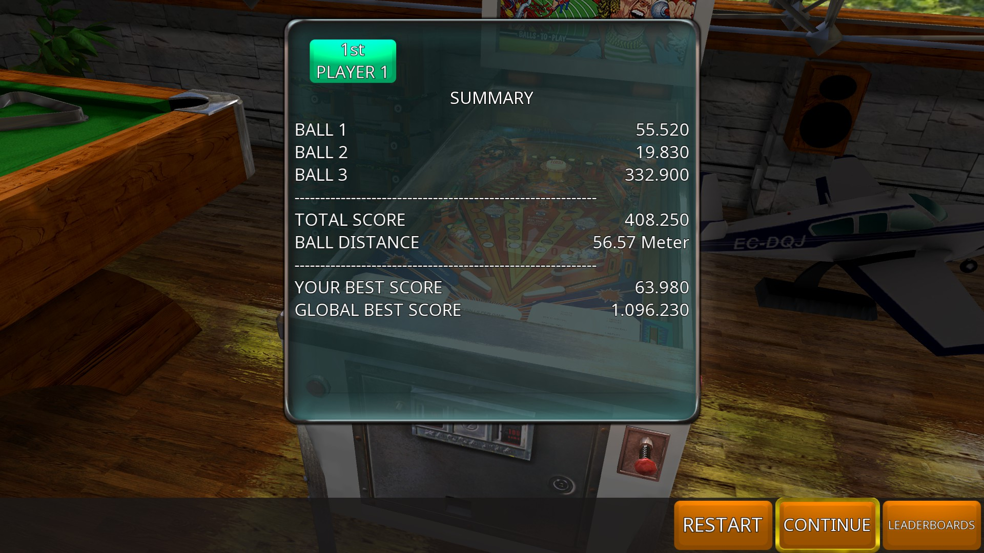 GTibel: Zaccaria Pinball: Red Show [3 balls] (PC) 408,250 points on 2018-08-13 09:25:14