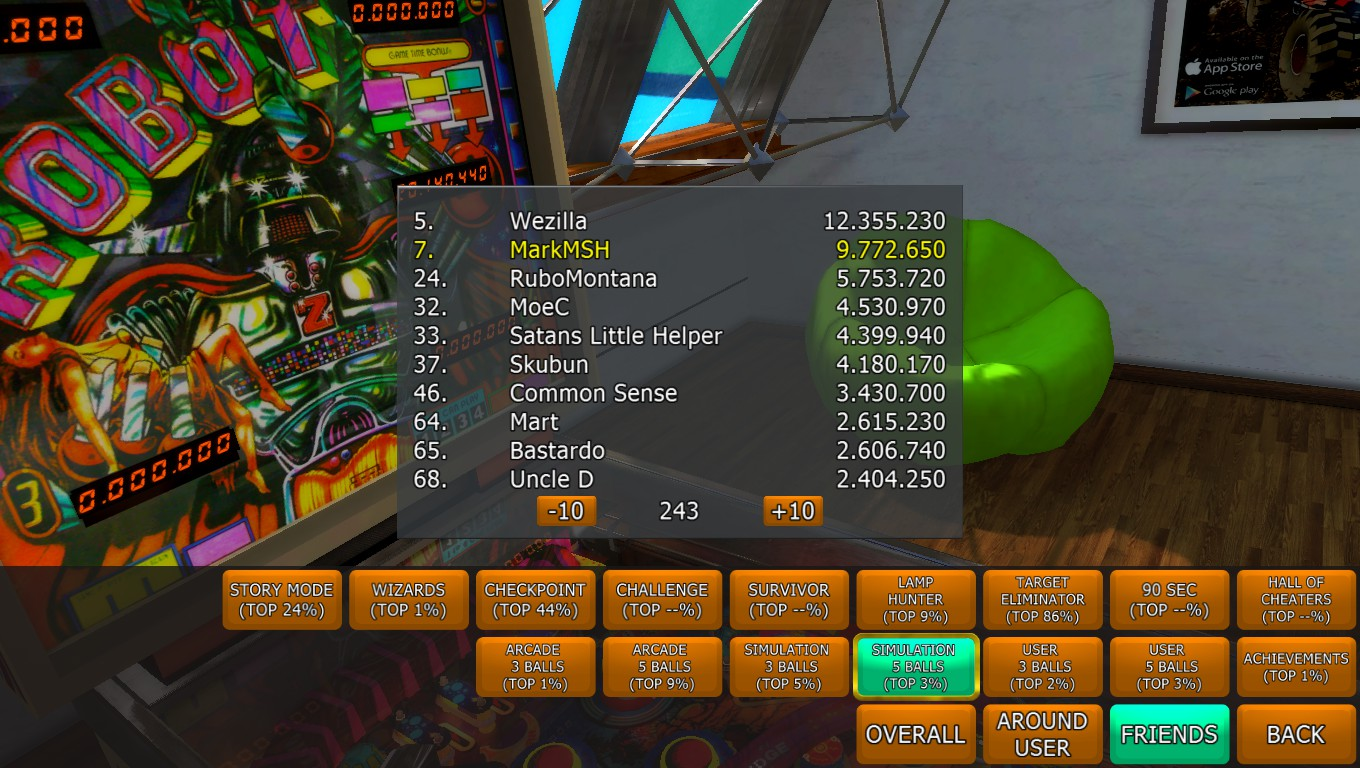 Mark: Zaccaria Pinball: Robot [5 balls] (PC) 9,772,650 points on 2018-04-16 02:09:59