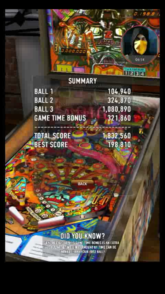 omargeddon: Zaccaria Pinball: Robot (Android) 1,832,560 points on 2018-04-11 15:35:21