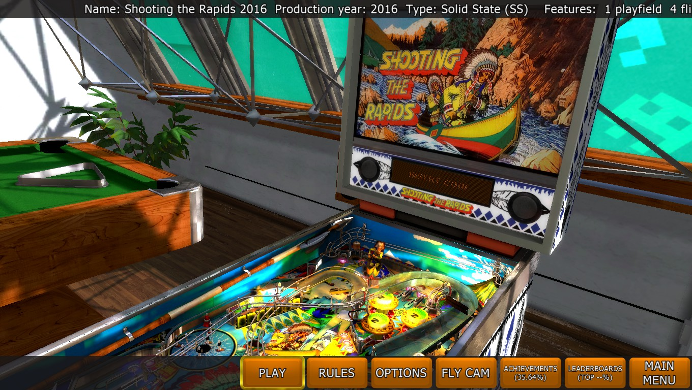 Mark: Zaccaria Pinball: Shooting The Rapids 2016 [3 balls] (PC) 22,866,250 points on 2018-04-30 20:06:45
