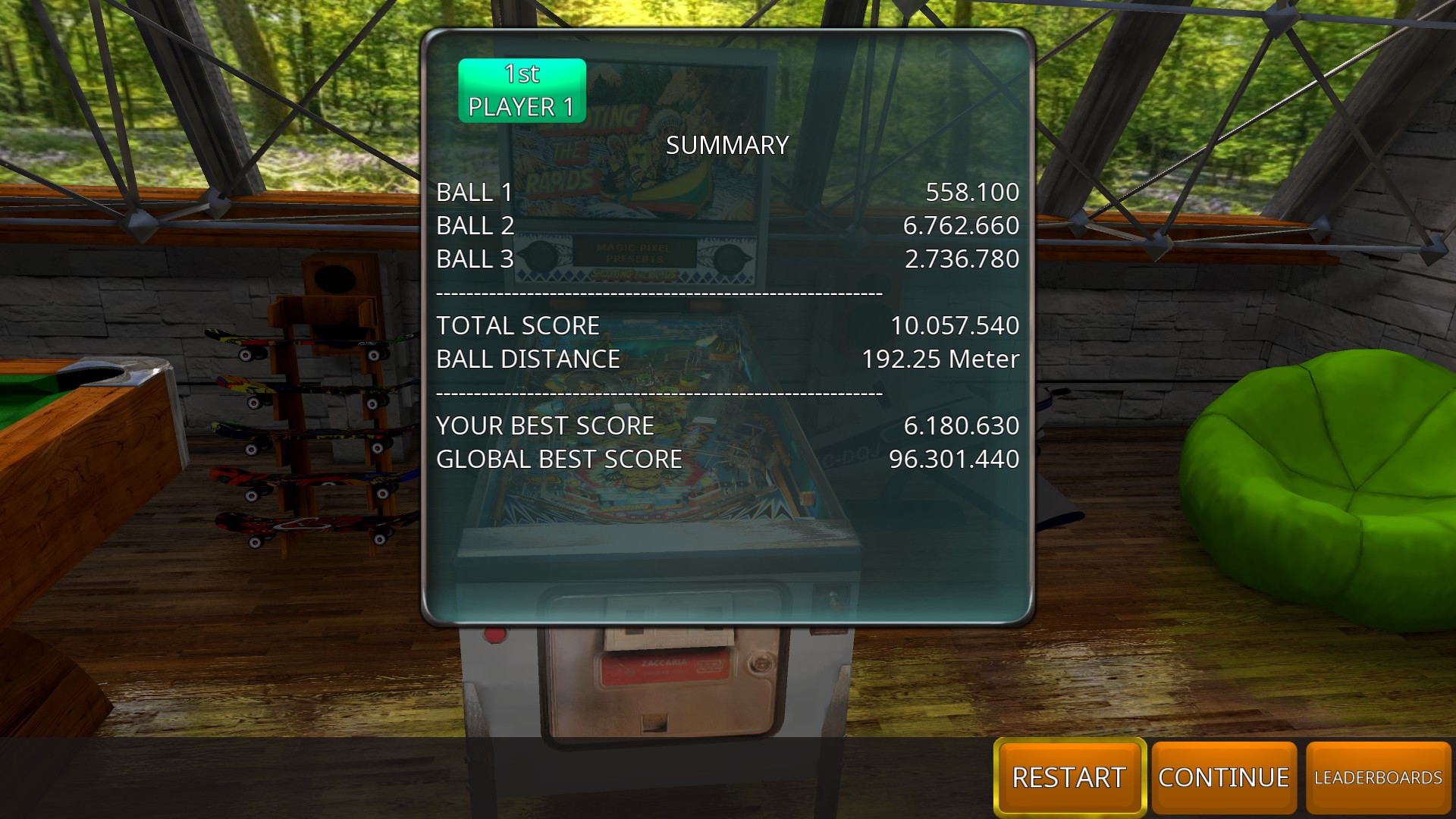 GTibel: Zaccaria Pinball: Shooting The Rapids 2016 [3 balls] (PC) 10,057,640 points on 2018-09-02 10:20:15