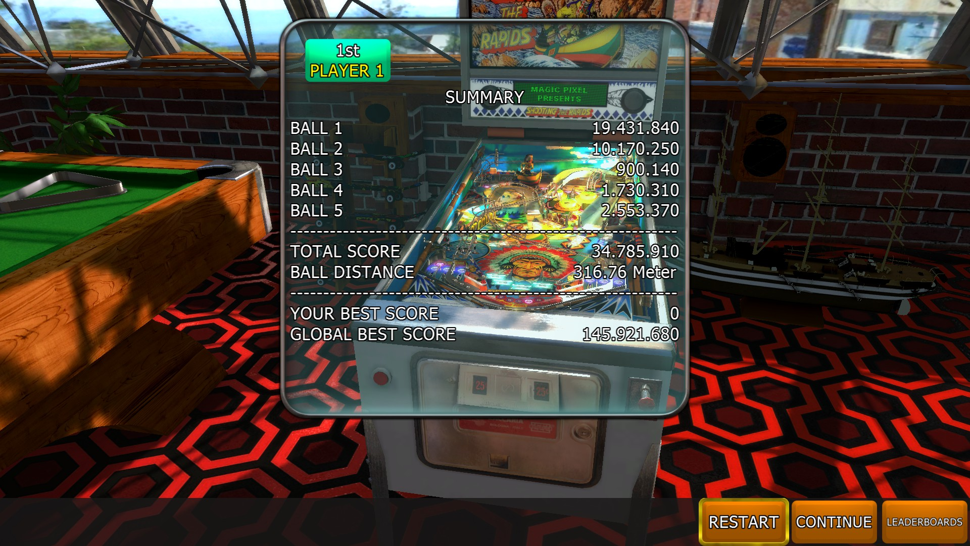 Mantalow: Zaccaria Pinball: Shooting The Rapids 2016 [5 balls] (PC) 34,785,910 points on 2018-05-10 06:20:33