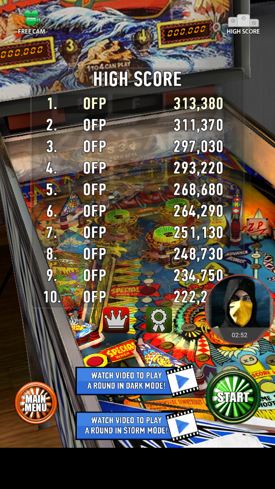 omargeddon: Zaccaria Pinball: Shooting The Rapids (Android) 313,380 points on 2018-04-11 17:25:09