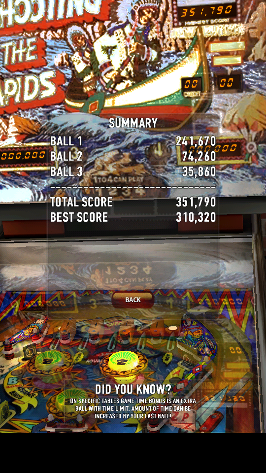 omargeddon: Zaccaria Pinball: Shooting The Rapids (Android) 351,790 points on 2018-06-05 18:01:06