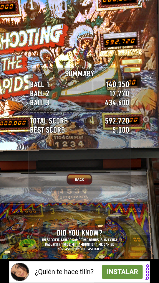 omargeddon: Zaccaria Pinball: Shooting The Rapids (Android) 592,720 points on 2018-12-12 20:05:42