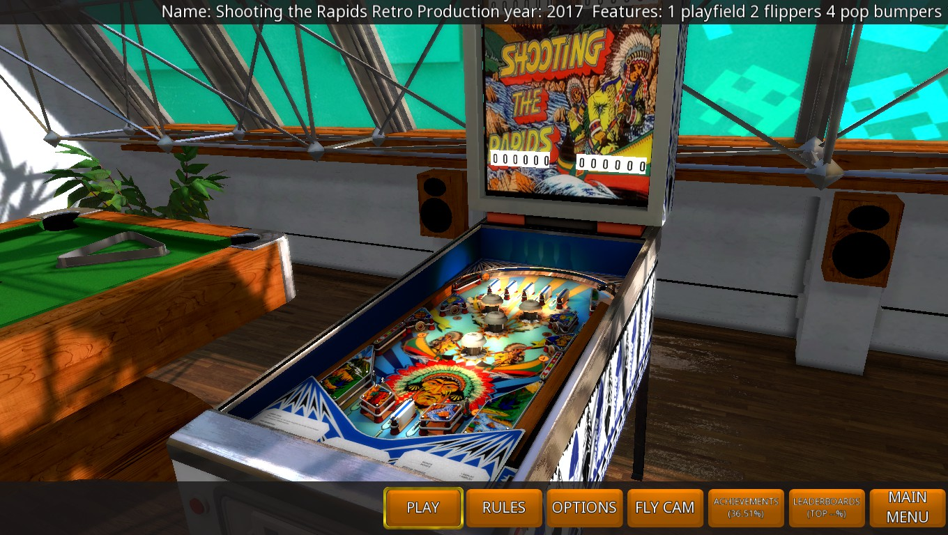 Mark: Zaccaria Pinball: Shooting the Rapids 2017 Retro Table [5 Balls] (PC) 35,060 points on 2018-05-19 02:49:17