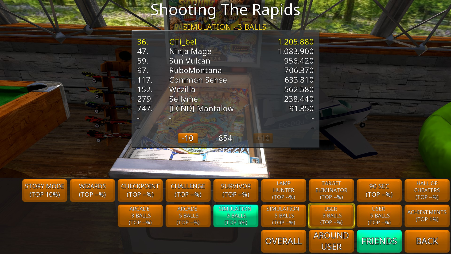GTibel: Zaccaria Pinball: Shooting the Rapids [3 balls] (PC) 1,205,880 points on 2018-09-02 12:21:46