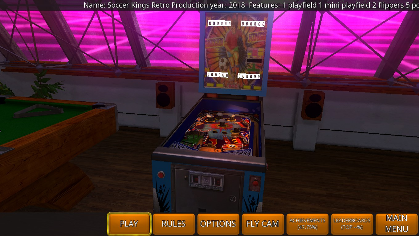 Mark: Zaccaria Pinball: Soccer Kings 2018 Retro Table [3 Balls] (PC) 5,810 points on 2018-08-23 00:21:41