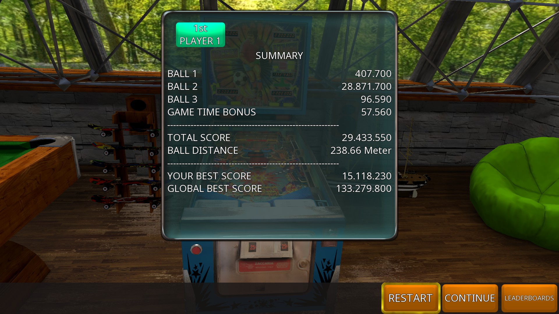 GTibel: Zaccaria Pinball: Soccer Kings [3 balls] (PC) 29,433,550 points on 2018-08-02 09:13:27
