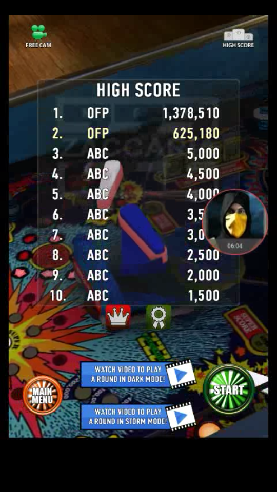 omargeddon: Zaccaria Pinball: Soccer Kings (Android) 1,378,510 points on 2018-04-04 00:20:01