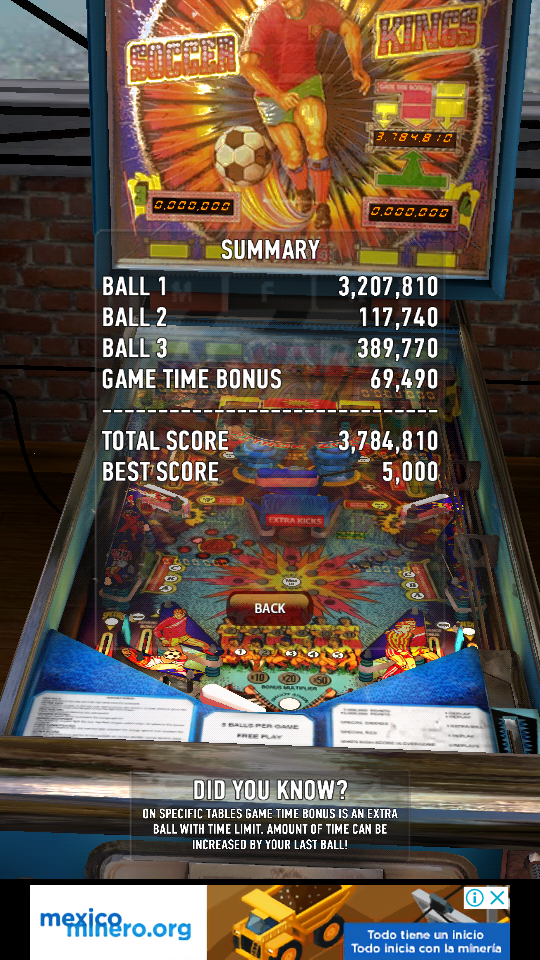omargeddon: Zaccaria Pinball: Soccer Kings (Android) 3,784,810 points on 2018-08-03 16:23:00