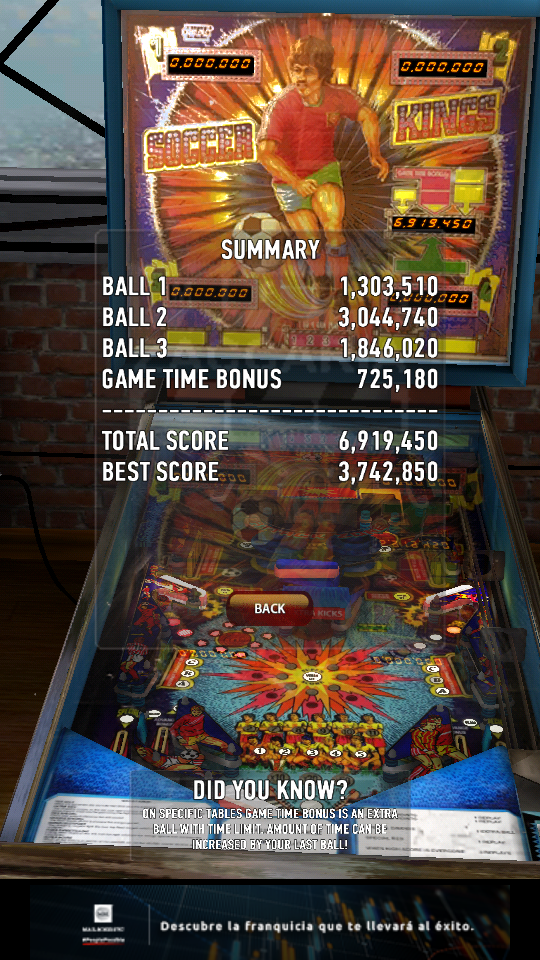 omargeddon: Zaccaria Pinball: Soccer Kings (Android) 6,919,450 points on 2018-12-13 00:41:11