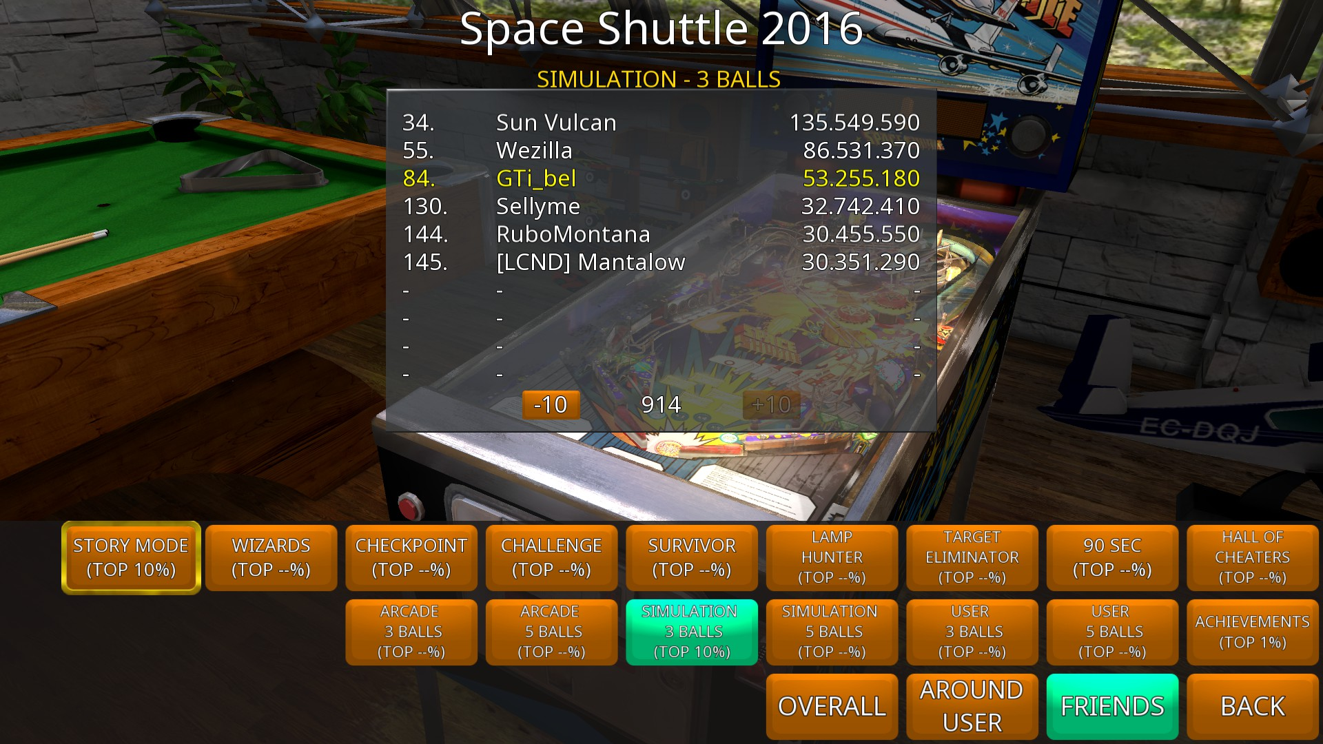 GTibel: Zaccaria Pinball: Space Shuttle 2016 [3 balls] (PC) 53,255,180 points on 2018-09-02 11:26:48