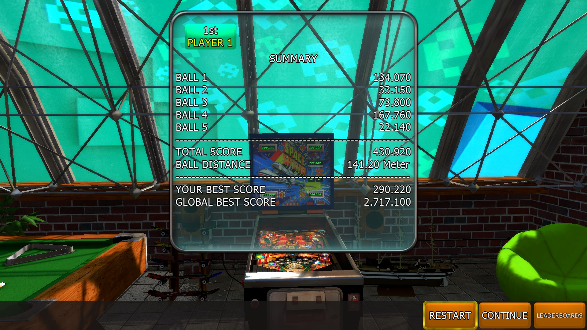 Mantalow: Zaccaria Pinball: Space Shuttle [5 balls] (PC) 430,920 points on 2018-04-18 01:52:52