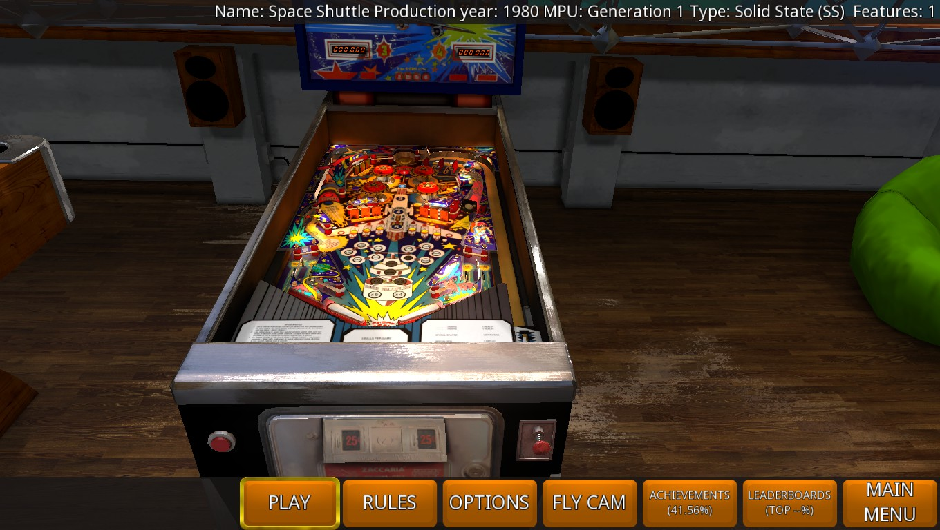 Mark: Zaccaria Pinball: Space Shuttle [5 balls] (PC) 483,710 points on 2018-07-06 02:08:53