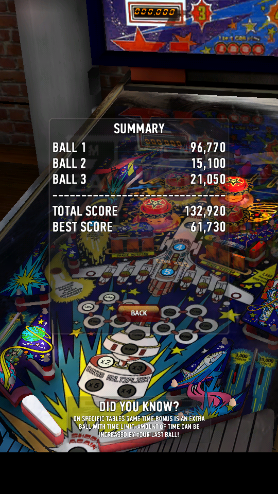 omargeddon: Zaccaria Pinball: Space Shuttle (Android) 132,920 points on 2018-05-31 01:00:20