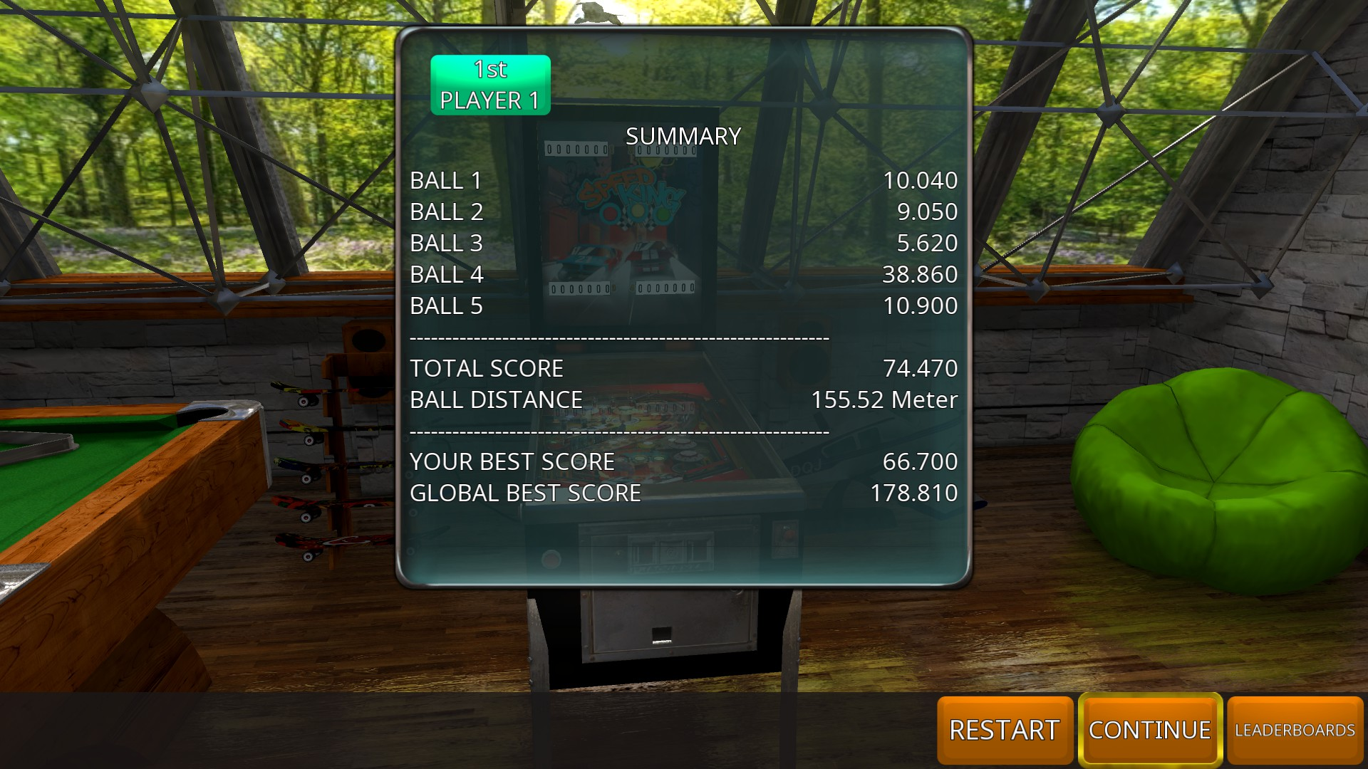 GTibel: Zaccaria Pinball: Speed Kings [5 balls] (PC) 74,470 points on 2018-08-27 10:20:55