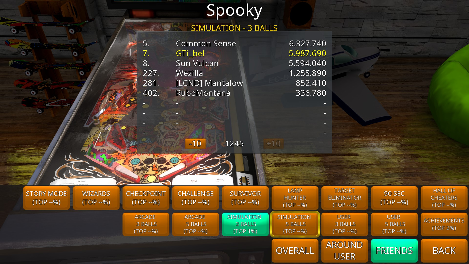GTibel: Zaccaria Pinball: Spooky [3 balls] (PC) 5,987,690 points on 2018-08-16 13:08:55