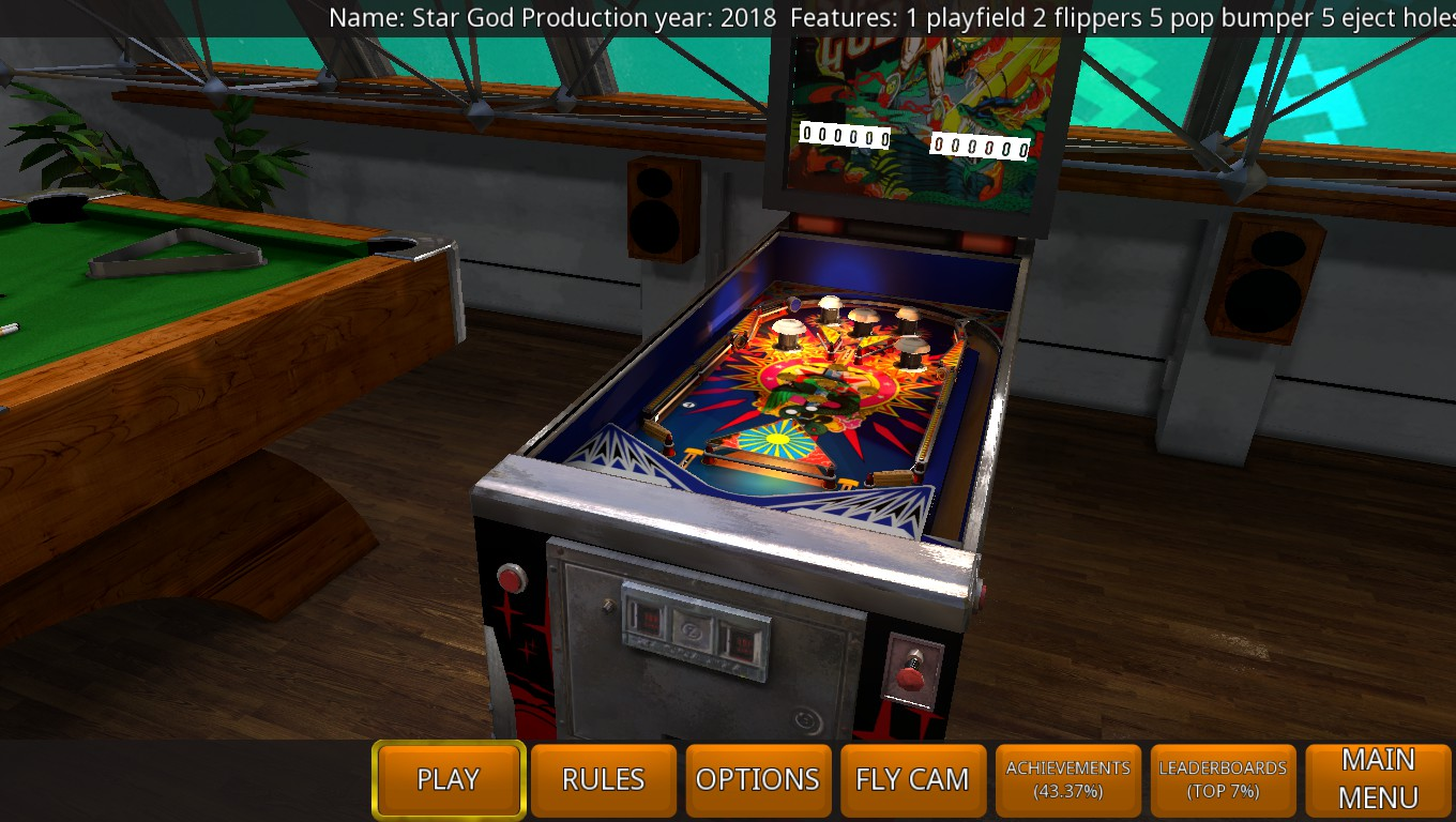 Mark: Zaccaria Pinball: Star God 2018 Retro Table [3 Balls] (PC) 6,450 points on 2018-07-22 03:15:05
