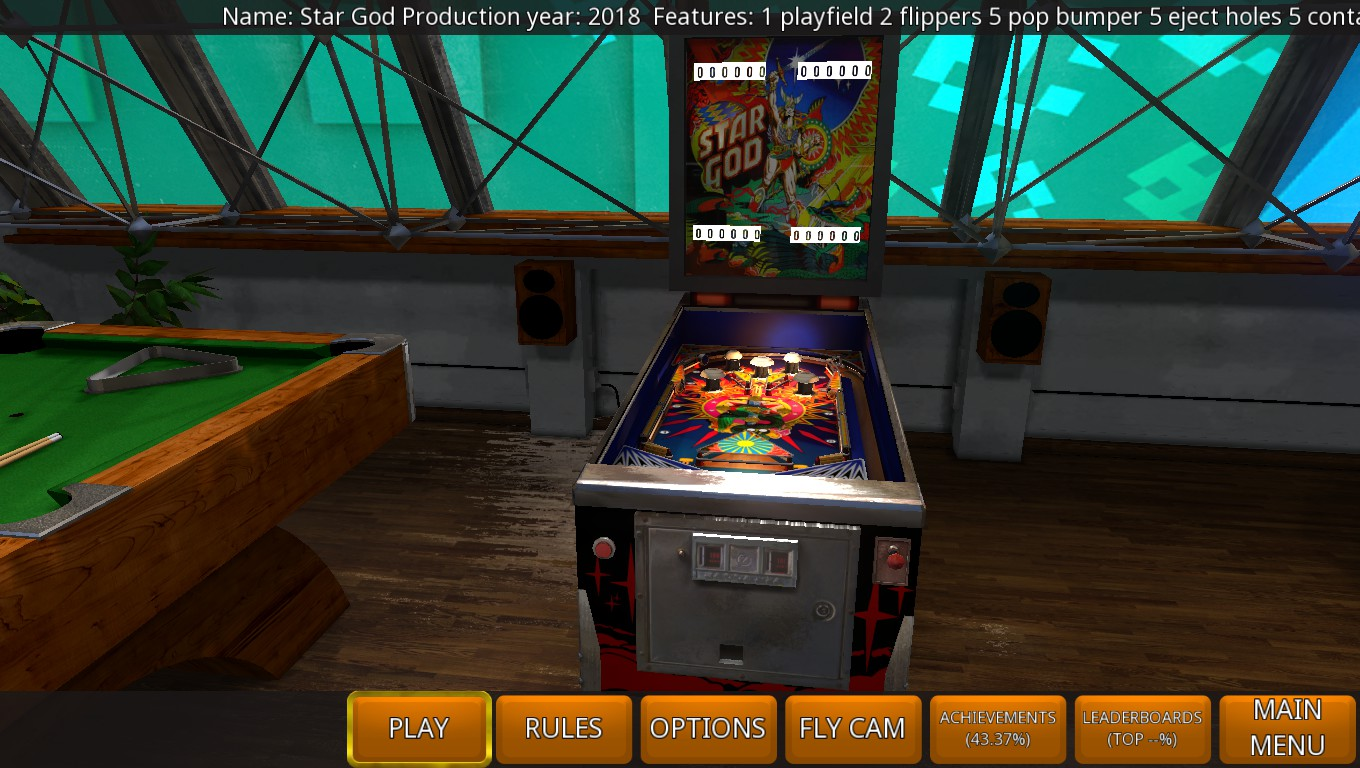 Mark: Zaccaria Pinball: Star God 2018 Retro Table [5 Balls] (PC) 9,150 points on 2018-07-23 00:17:07