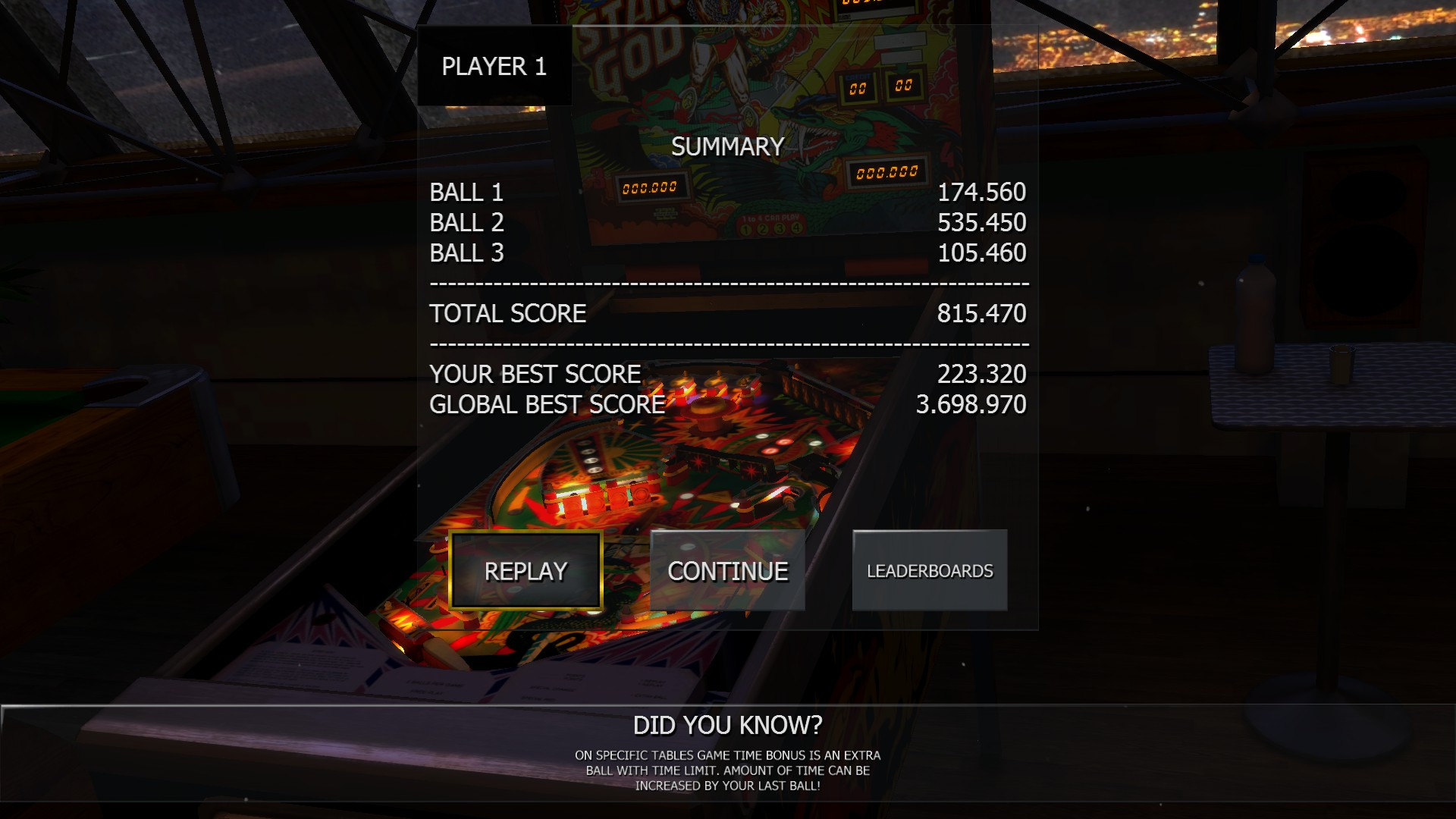 Mantalow: Zaccaria Pinball: Star God [3 balls] (PC) 815,470 points on 2016-09-28 03:22:14