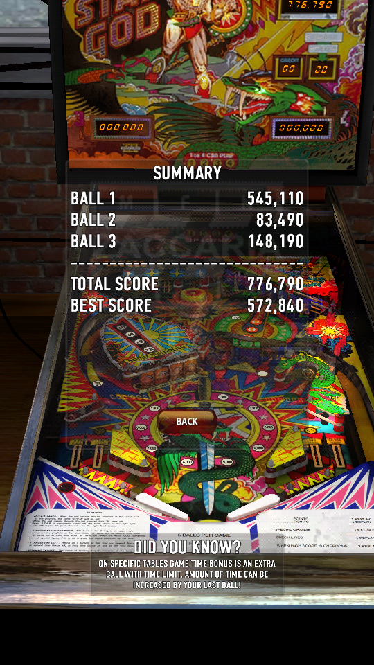 omargeddon: Zaccaria Pinball: Star God (Android) 776,790 points on 2018-06-28 21:14:05