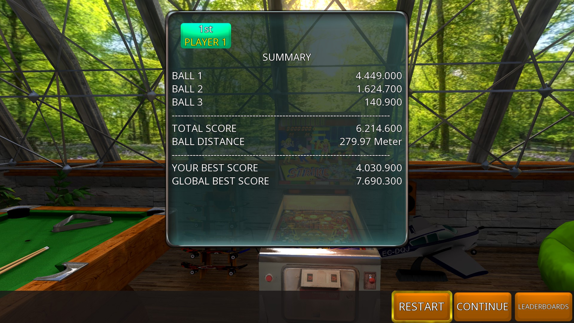 GTibel: Zaccaria Pinball: Strike [3 balls] (PC) 6,214,600 points on 2018-10-01 06:20:15