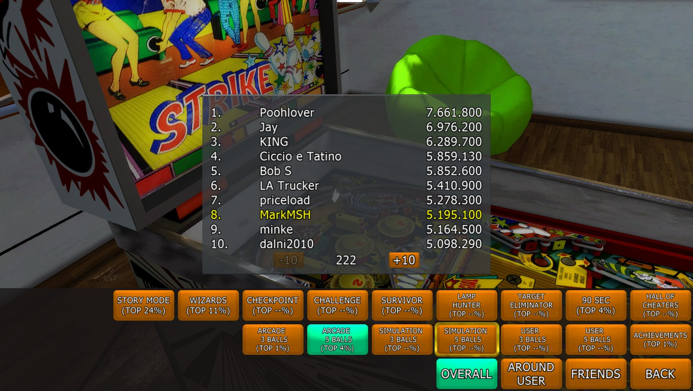 Mark: Zaccaria Pinball: Strike [5 balls] (PC) 5,195,100 points on 2018-04-20 02:32:07