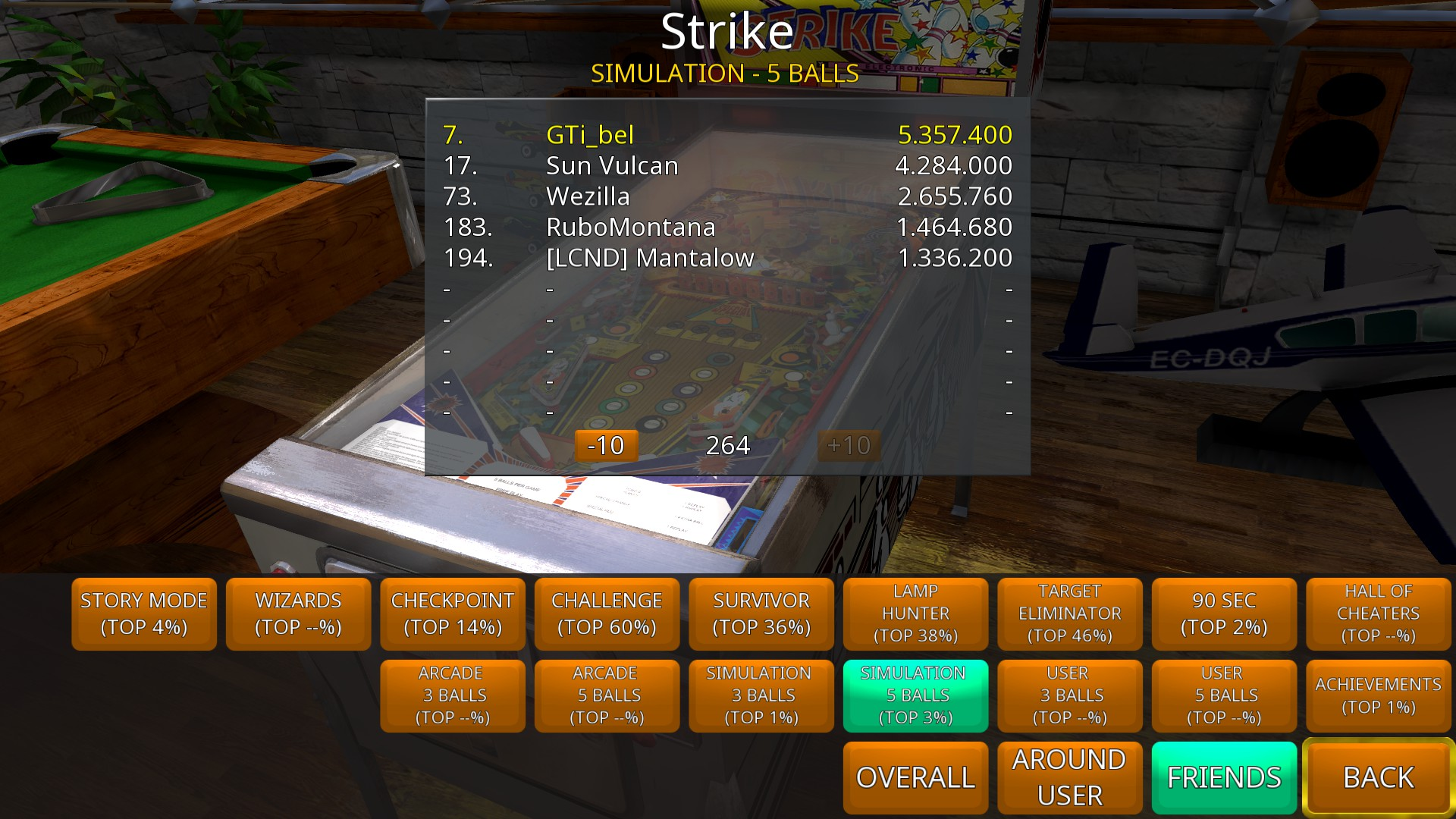 Zaccaria Pinball: Strike [5 balls] 5,357,400 points