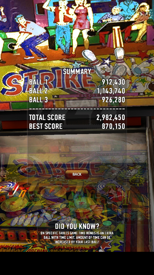 Zaccaria Pinball: Strike 2,982,450 points