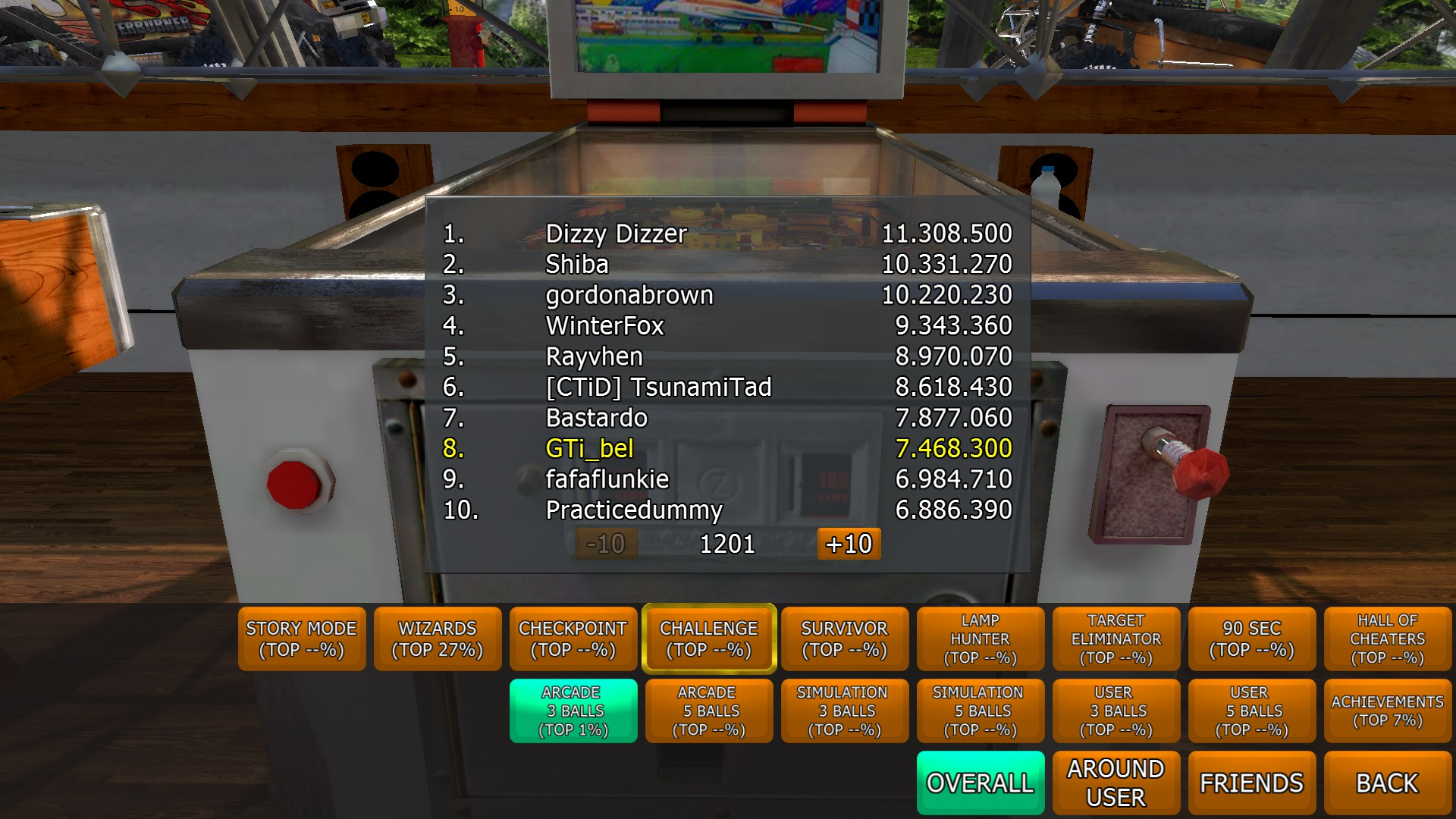GTibel: Zaccaria Pinball: Supersonic [3 balls] (PC) 7,468,300 points on 2017-09-25 14:04:10