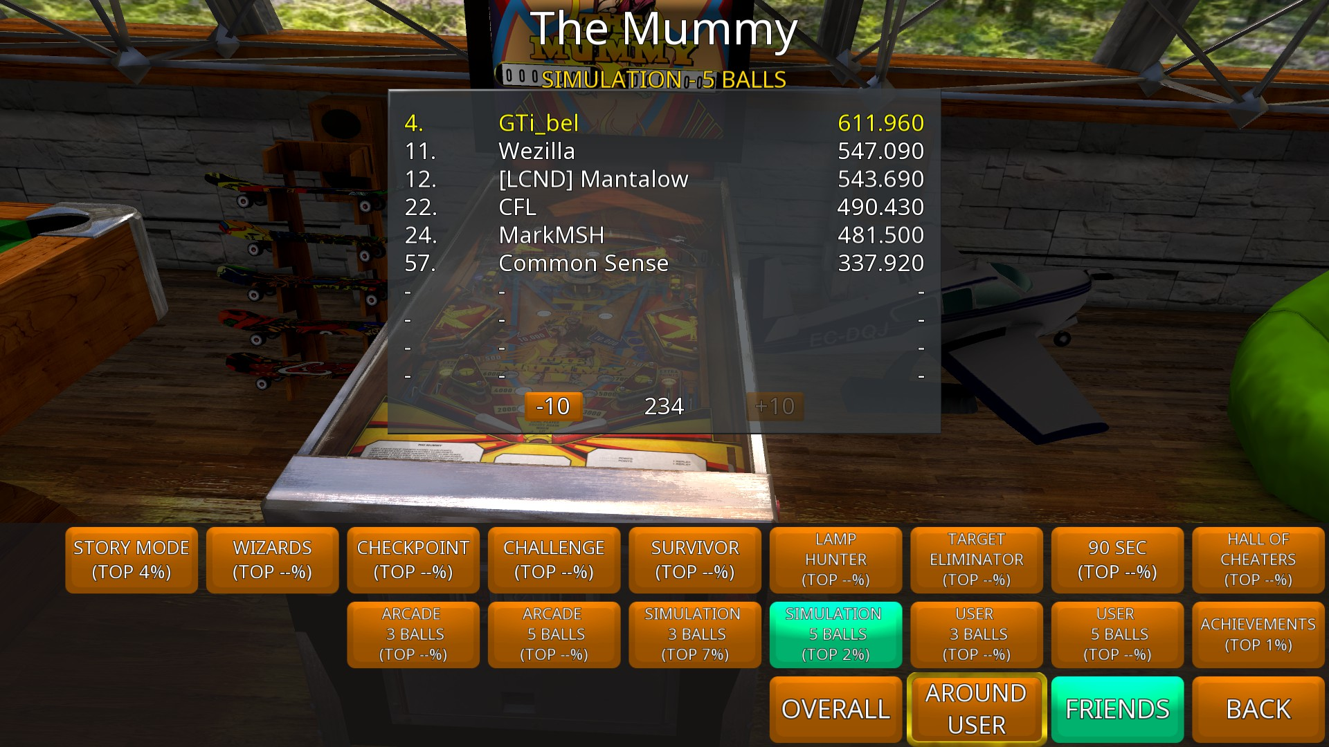 GTibel: Zaccaria Pinball: The Mummy [5 balls] (PC) 611,960 points on 2018-10-01 02:44:45