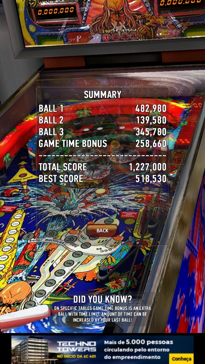 Zaccaria Pinball: Time Machine 1,227,000 points