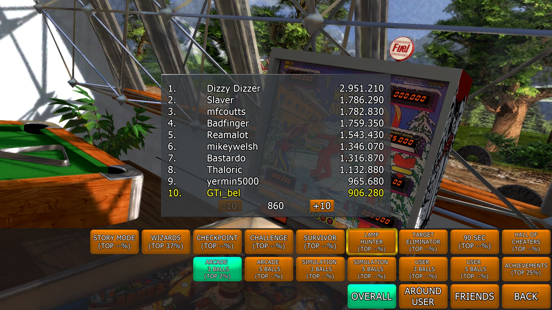 GTibel: Zaccaria Pinball: Winter Sports [3 balls] (PC) 906,280 points on 2017-09-25 05:10:58