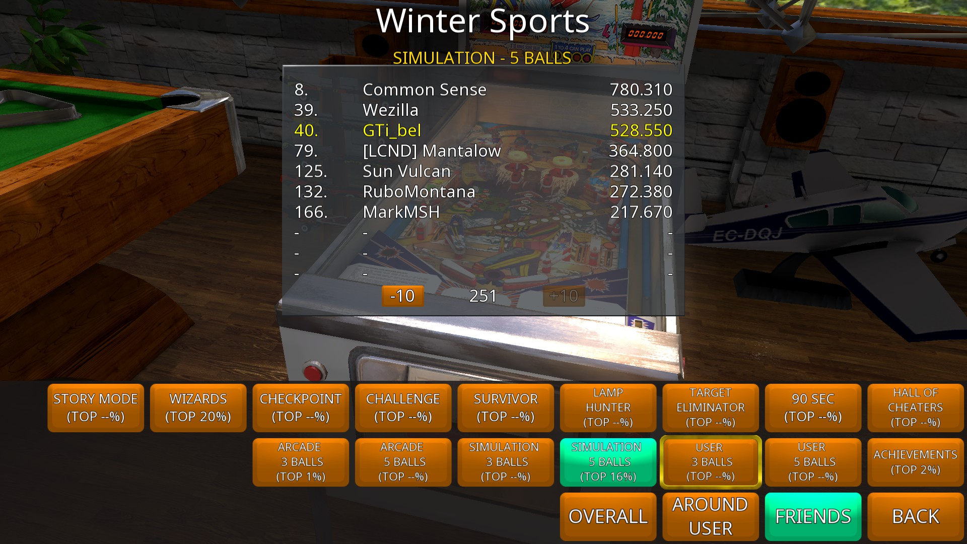 Zaccaria Pinball: Winter Sports [5 balls] 528,550 points