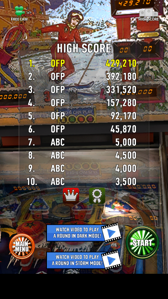 omargeddon: Zaccaria Pinball: Winter Sports (Android) 429,210 points on 2018-06-01 00:40:28