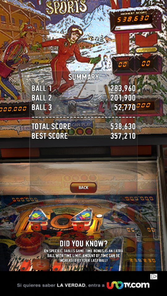 omargeddon: Zaccaria Pinball: Winter Sports (Android) 538,630 points on 2018-06-16 13:20:19