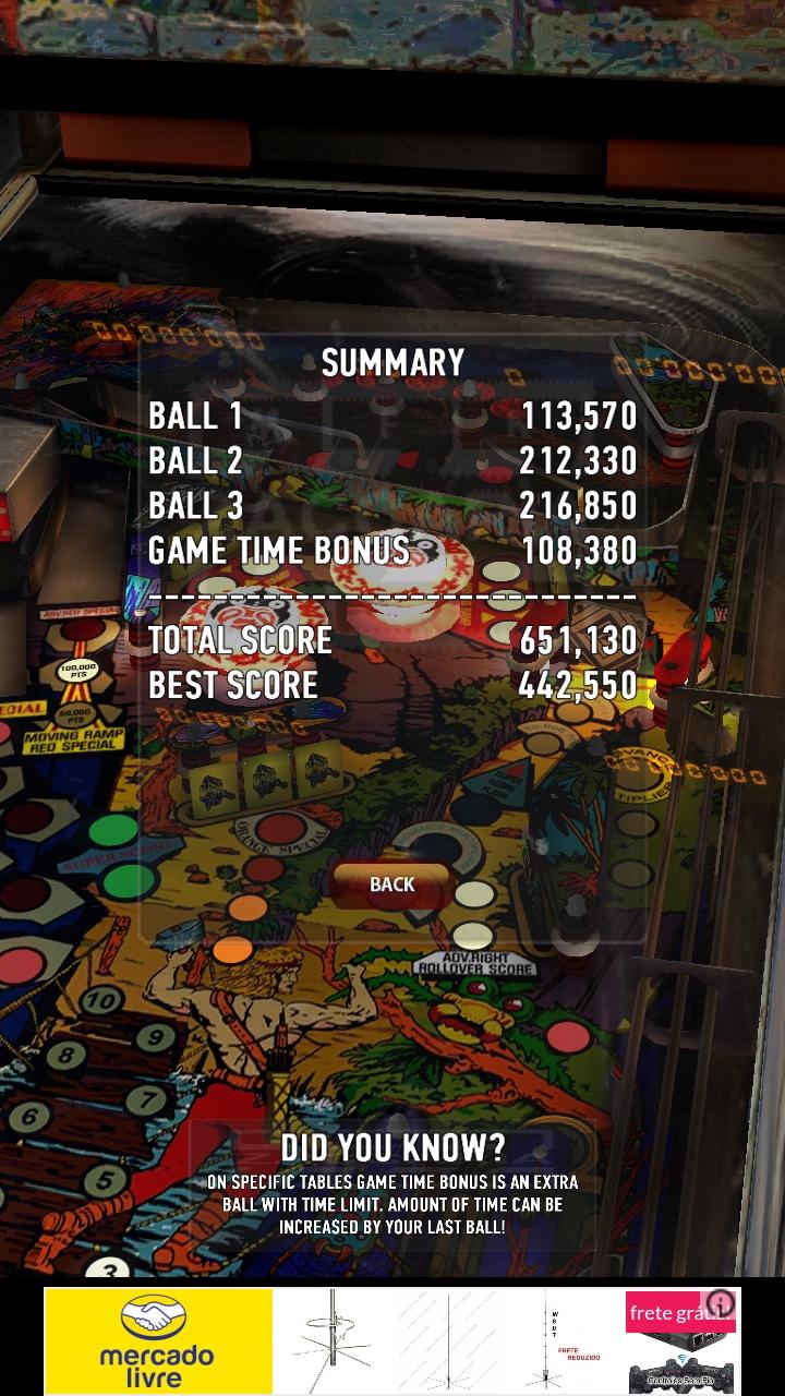 Zaccaria Pinball: Zankor 651,130 points